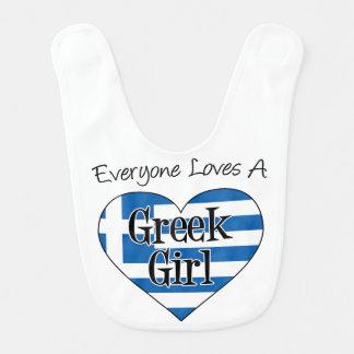 Todos ama um babador grego da menina