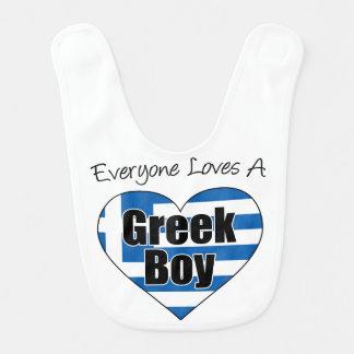 Todos ama um babador grego do menino
