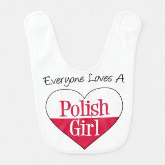 Todos ama um babador polonês da menina