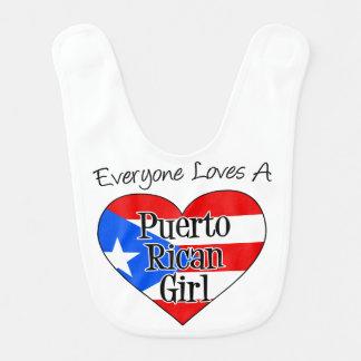 Todos ama um babador porto-riquenho da menina