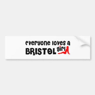 Todos ama uma menina de Bristol Adesivo Para Carro