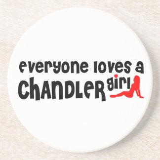 Todos ama uma menina de Chandler Porta Copos De Arenito