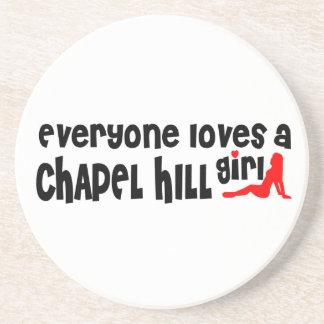 Todos ama uma menina de Chapel Hill Porta Copos De Arenito