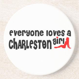 Todos ama uma menina de Charleston Porta Copos De Arenito