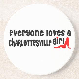 Todos ama uma menina de Charlottesville Porta Copos De Arenito