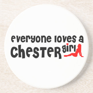 Todos ama uma menina de Chester Porta Copos De Arenito