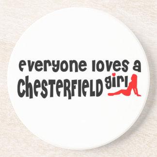 Todos ama uma menina de Chesterfield Porta Copos De Arenito