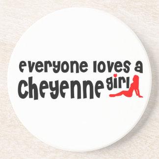 Todos ama uma menina de Cheyenne Porta Copos De Arenito