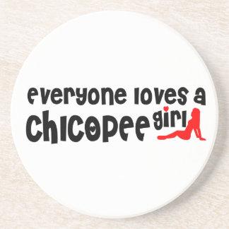 Todos ama uma menina de Chicopee Porta Copos De Arenito