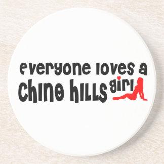 Todos ama uma menina de Chino Hills Porta Copos De Arenito