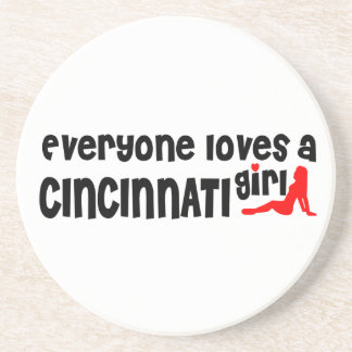 Todos ama uma menina de Cincinnati Porta Copos De Arenito