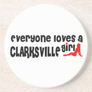 Todos ama uma menina de Clarksville Porta Copos De Arenito