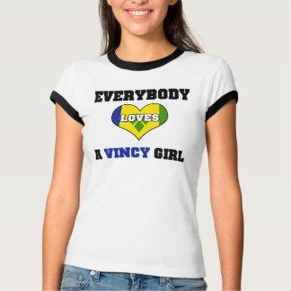 Todos ama uma menina de Vincy Camiseta