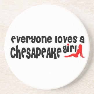 Todos ama uma menina do Chesapeake Porta Copos De Arenito