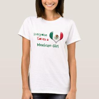 Todos ama uma menina mexicana camiseta