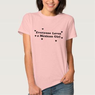 Todos ama uma menina mexicana t-shirt