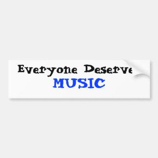 Todos merece a música adesivos