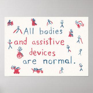 """""""Todos os corpos são"""" poster normal da inabilidade"""