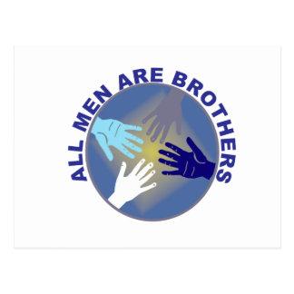 Todos os homens são logotipo dos irmãos - cartão postal