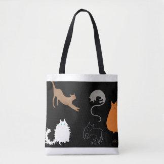 Todos os tipos da sacola dos gatos bolsas tote