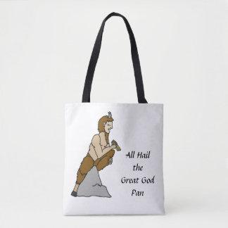 Todos saudam a grande bandeja do deus bolsas tote