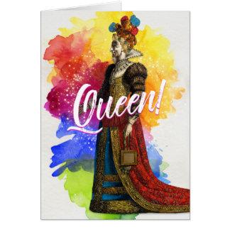 Todos saudam o cartão da rainha