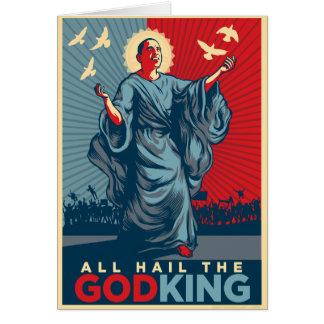 Todos saudam o cartão do Deus-Rei Personalized