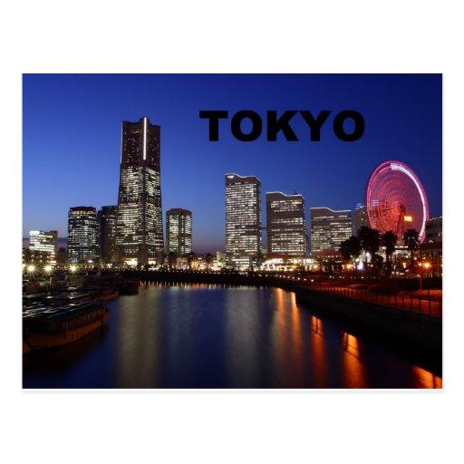 Tokyo Japão em a noite (St.K) Cartoes Postais