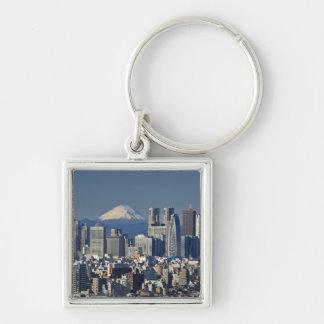 Tokyo, skyline do distrito de Shinjuku, Monte Fuji Chaveiro
