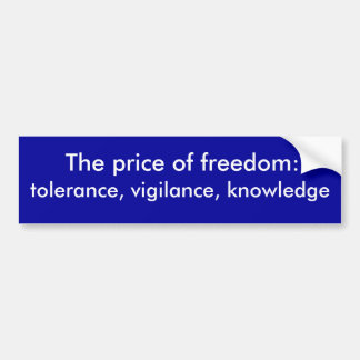 tolerância, vigilância, conhecimento, o preço de f adesivo para carro