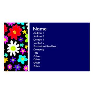 Tom da textura (flores dos desenhos animados) azul cartão de visita