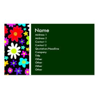 Tom da textura (flores dos desenhos animados) verd cartão de visita