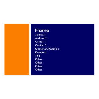 Tom dois (alaranjado e profundamente azul) cartão de visita