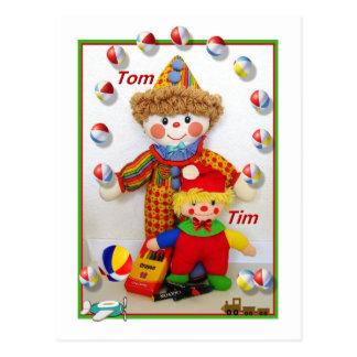 """TOM & TIM """"obtêm"""" o cartão bom Cartão Postal"""
