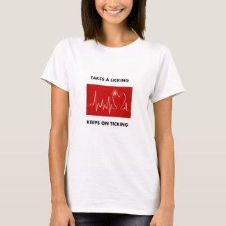 Toma uma lambedura - mantem-se no tiquetaque camiseta