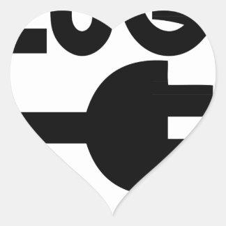 tomada adesivo coração
