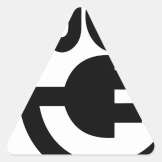 tomada adesivo triangular