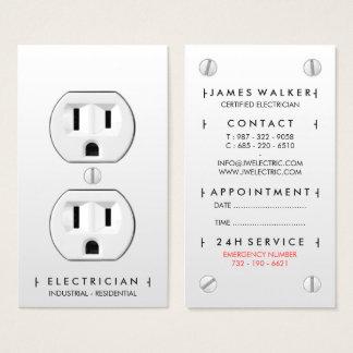 Tomada elétrica branca simples moderna do cartão de visitas