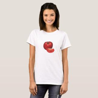 Tomate e fatia do tomate camiseta