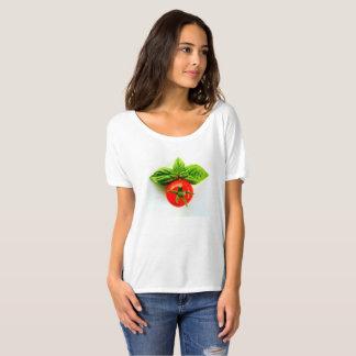 Tomate e t-shirt das mulheres da manjericão camiseta