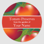 Tomates que enlatam a etiqueta adesivos em formato redondos