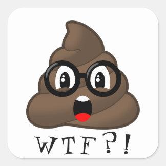 Tombadilho engraçado Emoji de WTF com etiqueta dos