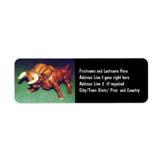 Tome a Bull pelos chifres Etiqueta Endereço De Retorno