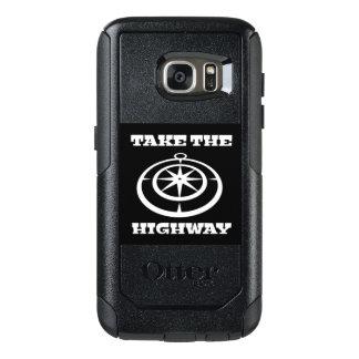 Tome a capa de telefone da estrada para Samsung