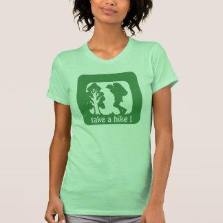 tome a uma caminhada o camiseta das mulheres do ar