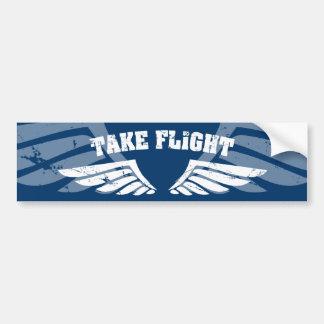 Tome as asas da aviação do vôo adesivo para carro