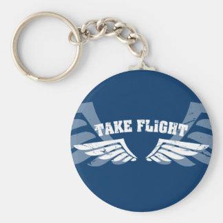 Tome as asas da aviação do vôo chaveiros