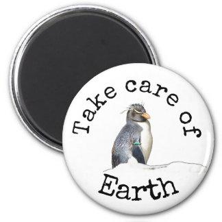 Tome do ímã do pinguim da terra imã