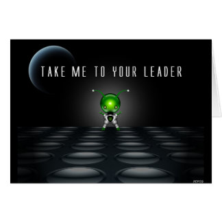 Tome-me a seu líder cartão comemorativo