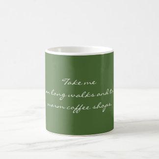 Tome-me em caminhadas longas caneca de café